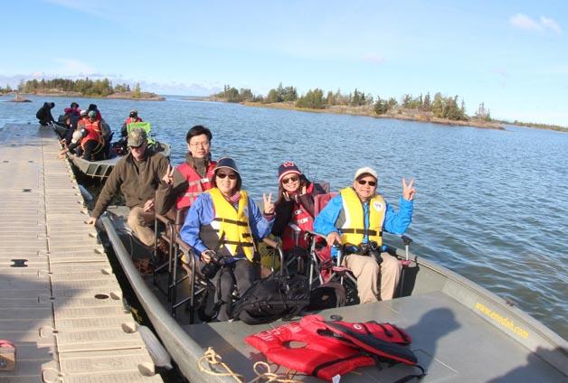 yellowknife-boat trip